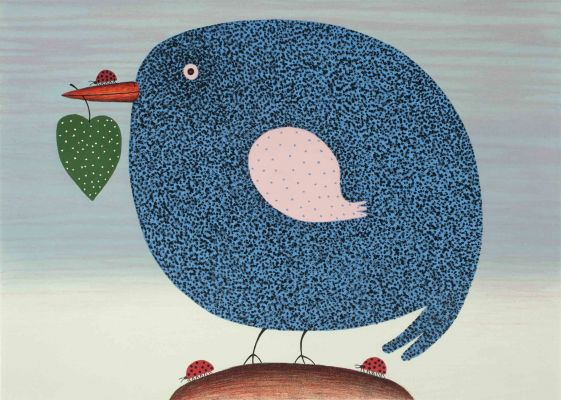 Blue Bird 2015 Lithograph 48 X 68 cn Edition 25 Dean Bowen Low Res
